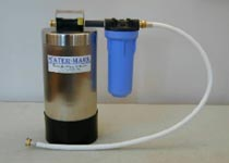 water-mark portable water softener - stainless steel unit