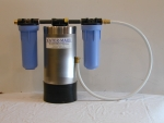 Water Mark Portable Boat RV Water Softener - Stainless w/Dual Filters